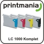 Zamiennik tusz Brother LC 1000 / 970 komplet lc1000 Brother DCP 130C   Brother DCP 135C   Brother DCP 150C