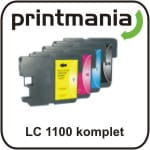 Zamiennik tusz Brother LC 1100 / 980 komplet LC1100 DCP-145CDCP-165C DCP-195C